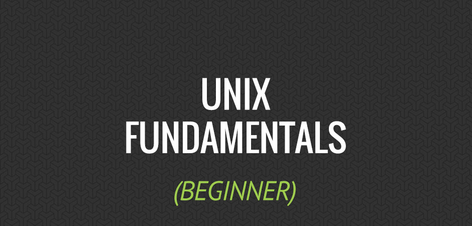 unix fundamentals p1 Unix and linux system administration fundamentals : complete guide master linux/unix system administration through a practical and hands on approach.